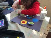 planets and sand painting