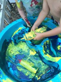 squirt painting